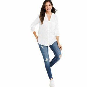 Simple Society High Rise Distressed Raw Hem Jeans